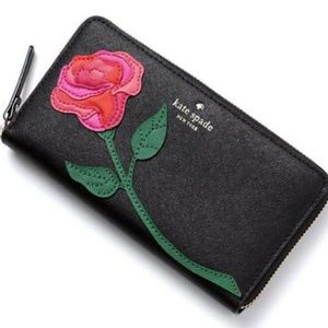 KATE SPADE Rose Colored Glasses LACEY Wallet